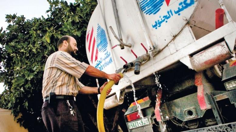 l'acqua ai palestinesi